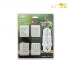 ریموت کنترل چهار کانال چهار ریسیور FEC کد 4R4